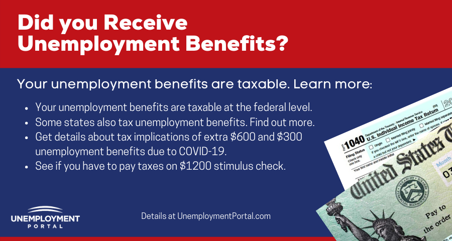 """How much are unemployment benefits taxed"""
