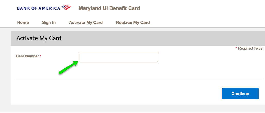 """How to Activate the Maryland Unemployment Debit Card 2"""