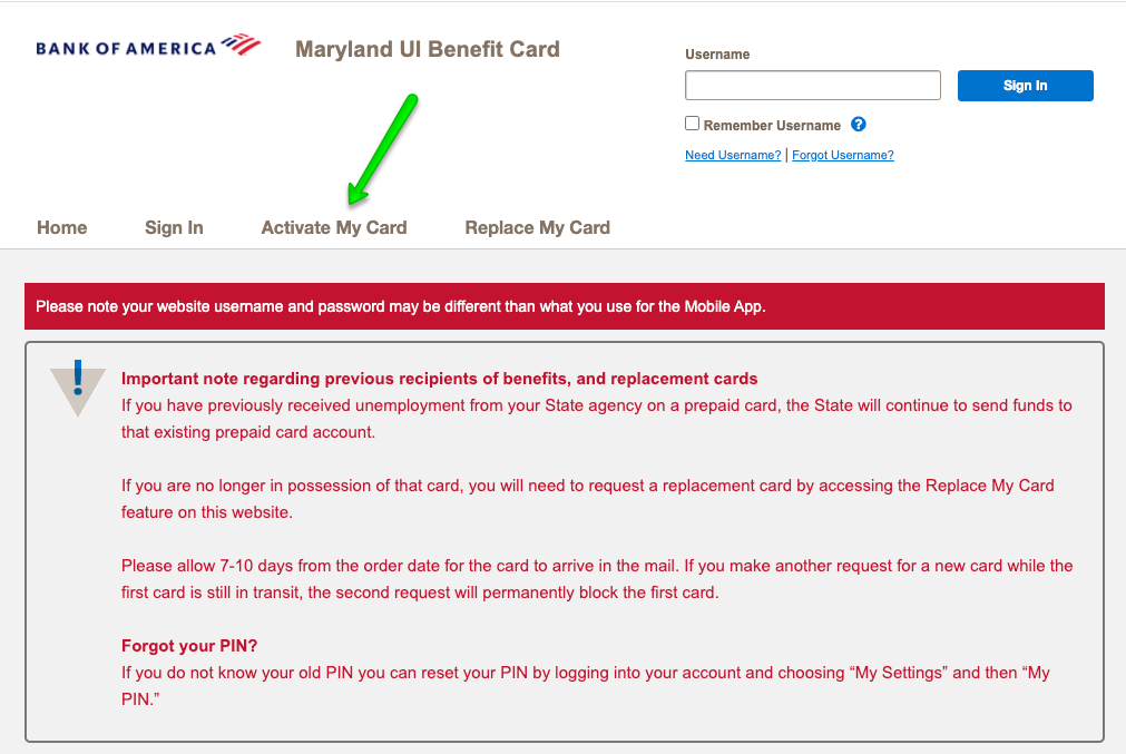 """How to Activate the Maryland Unemployment Debit Card"""