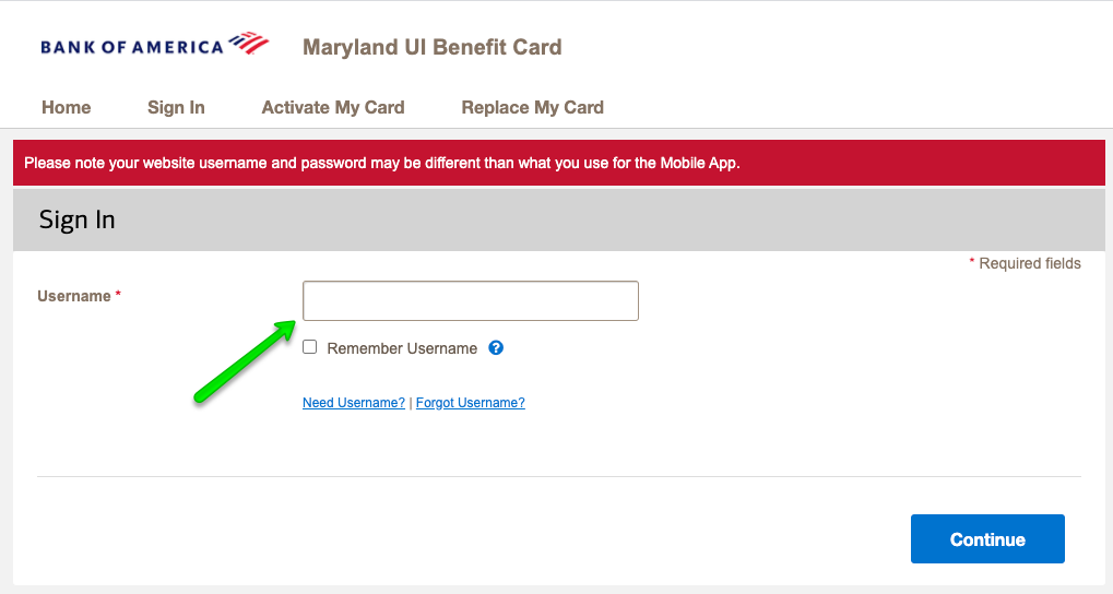 """Maryland Debit Card Login 2"""