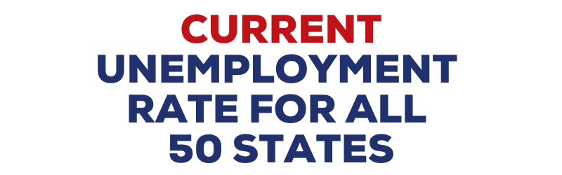 """State by state unemployment rate"""