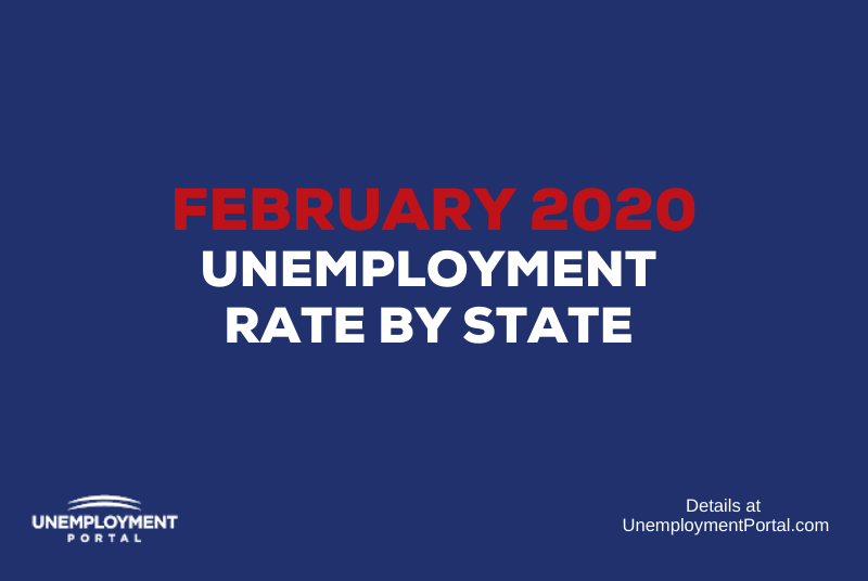 """""""Unemployment Rate by State February 2020"""""""