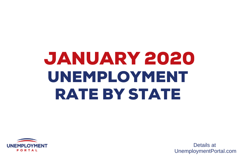 """Unemployment Rate by State January 2020"""