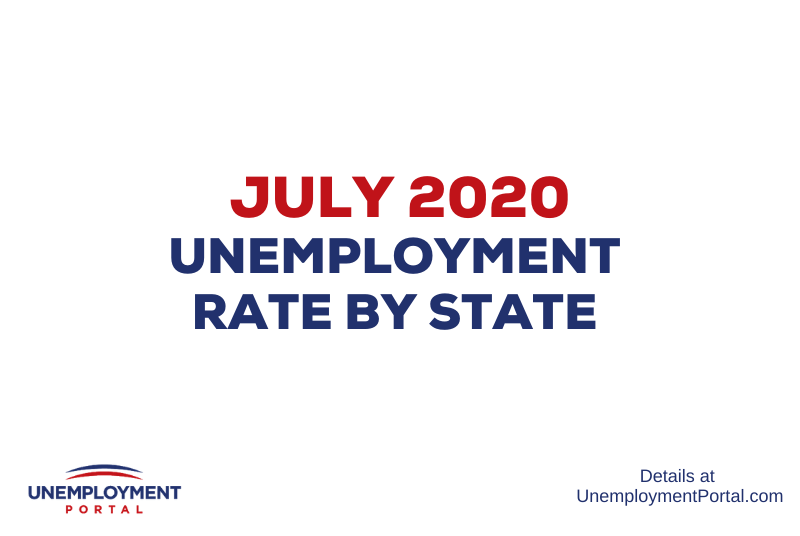 """Unemployment Rate by State July 2020"""