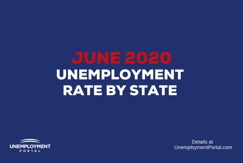 """Unemployment Rate by State June 2020"""