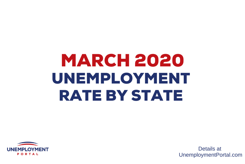 """Unemployment Rate by State March 2020"""