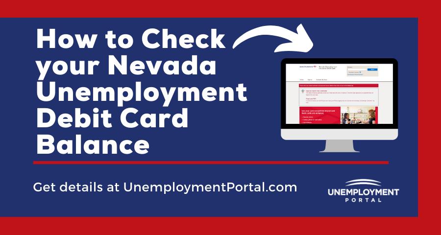 Check Nevada Unemployment Debit Card Balance