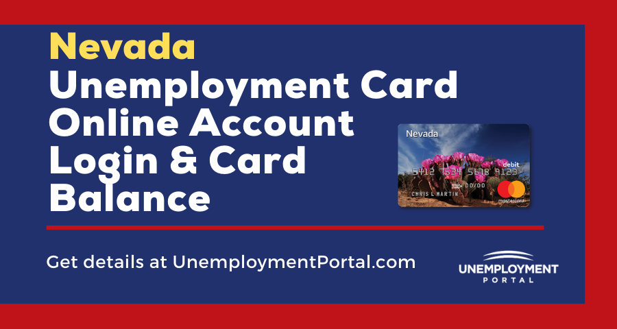 NV Unemployment Card Login and Card Balance