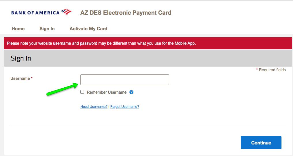 """""""AZ DES Unemployment Debit Card Login 2"""""""