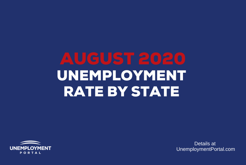 """""""Unemployment Rate by State August 2020"""""""