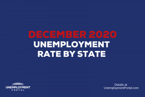 """""""Unemployment Rate by State December 2020"""""""