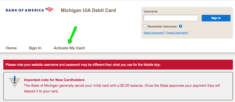 """How to activate Michigan UIA Unemployment Debit Card"""
