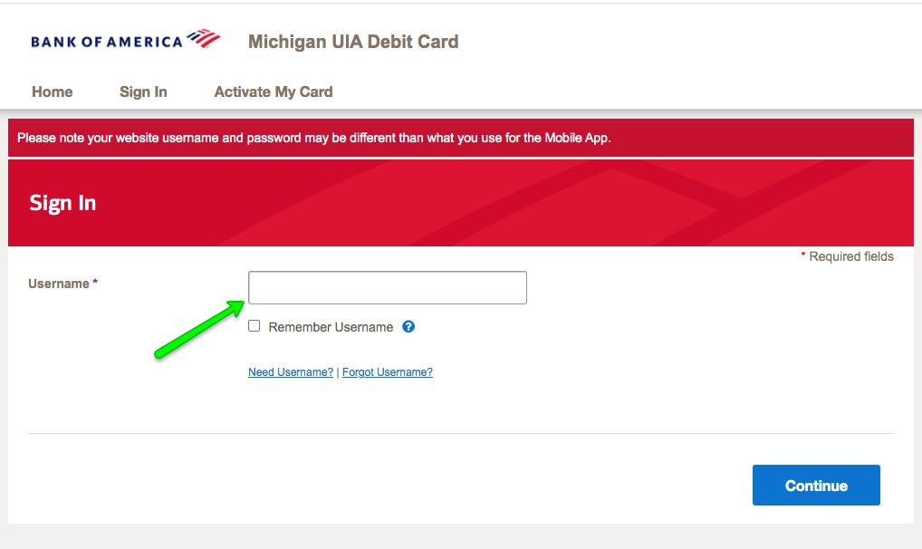 """""""Michigan UIA Debit Card Login 2"""""""