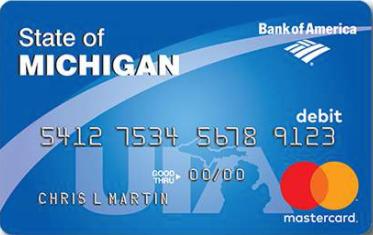 """""""Michigan UIA Unemployment Debit Card"""""""