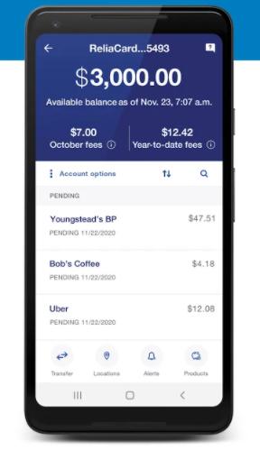 """Check your ReliaCard balance via mobile app"""