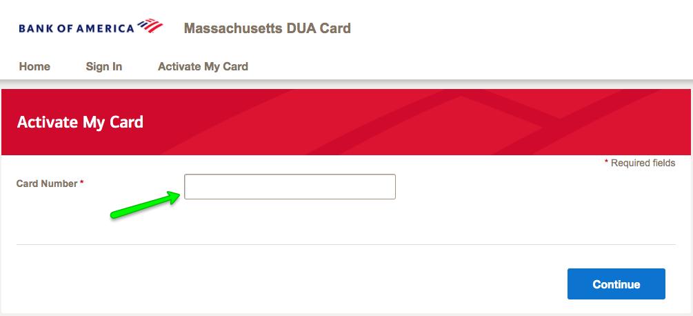 """How to Activate the Massachusetts DUA Unemployment Debit Card 2"""