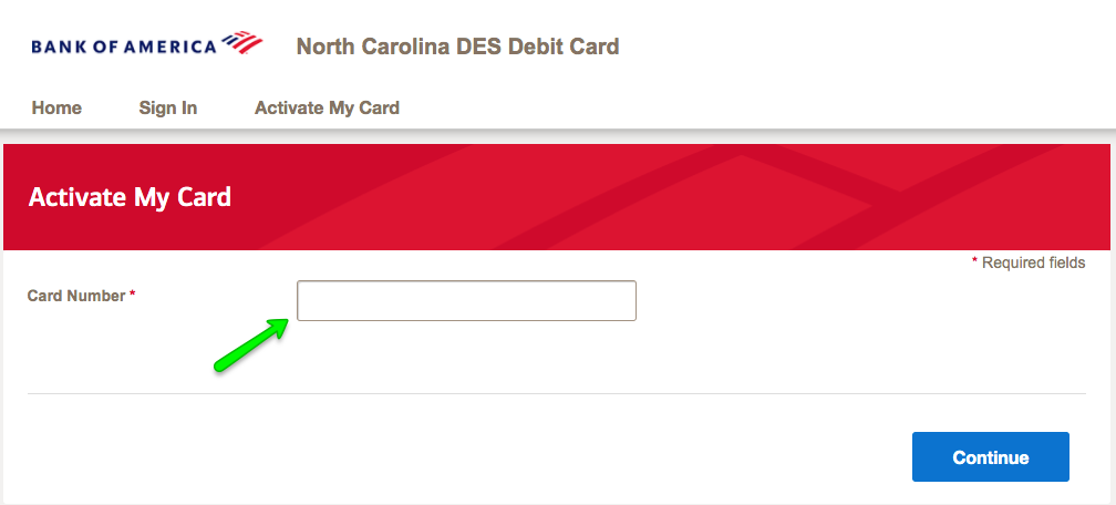 """How to Activate the North Carolina DES Unemployment Debit Card 2"""
