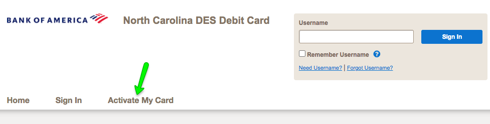 """How to Activate the North Carolina DES Unemployment Debit Card"""