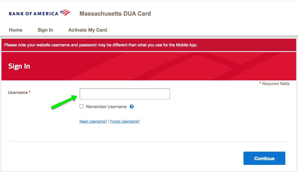 """""""Massachusetts DUA Unemployment Debit Card Login 2"""""""