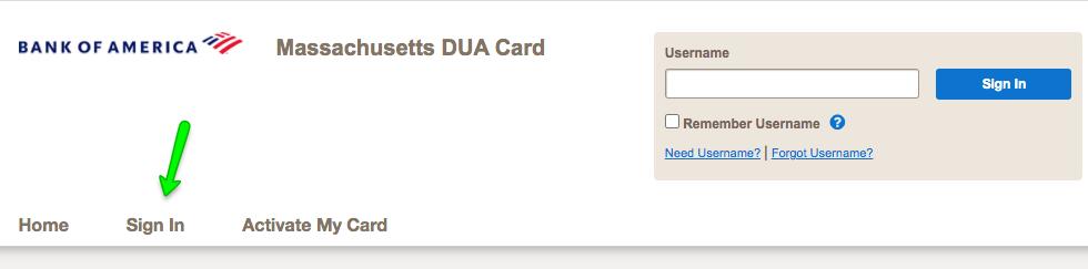 """Massachusetts DUA Unemployment Debit Card Login"""""""