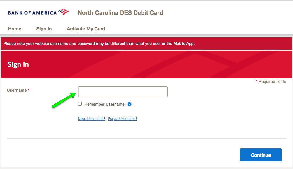 """""""North Carolina DES Unemployment Debit Card Login 2"""""""
