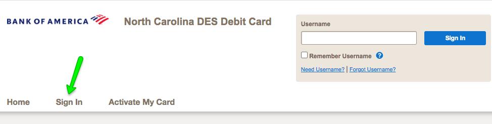 """""""North Carolina DES Unemployment Debit Card Login"""""""