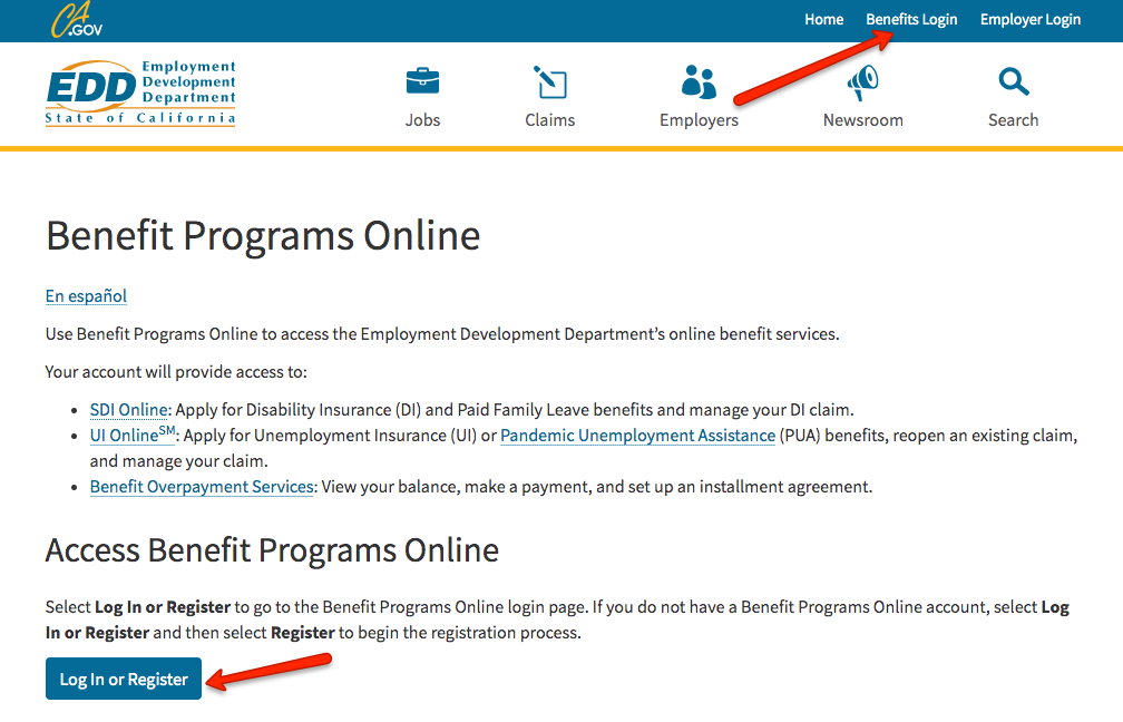 """California EDD Benefit Programs Online Login"""