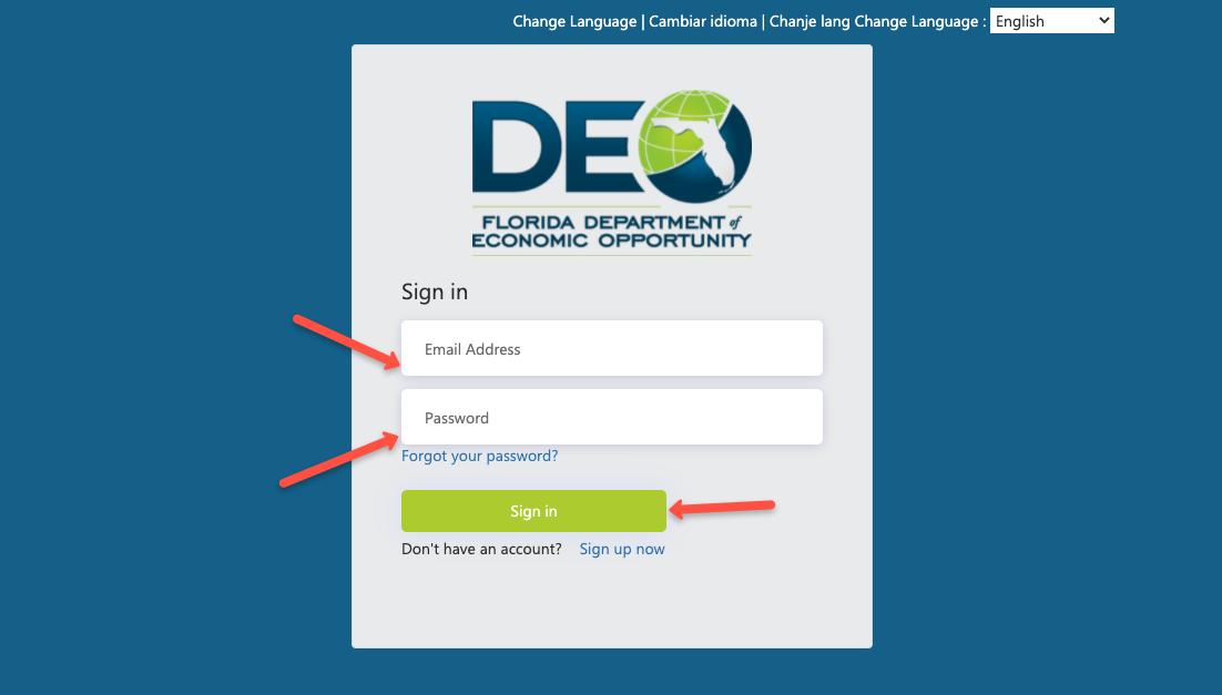 """Florida Unemployment CONNECT Login 1"""
