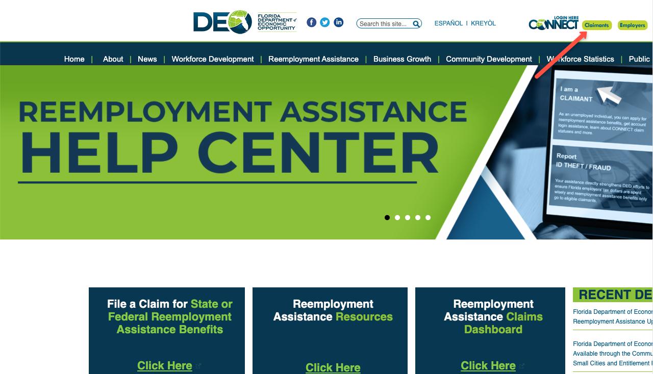 """Florida Unemployment CONNECT Login"""