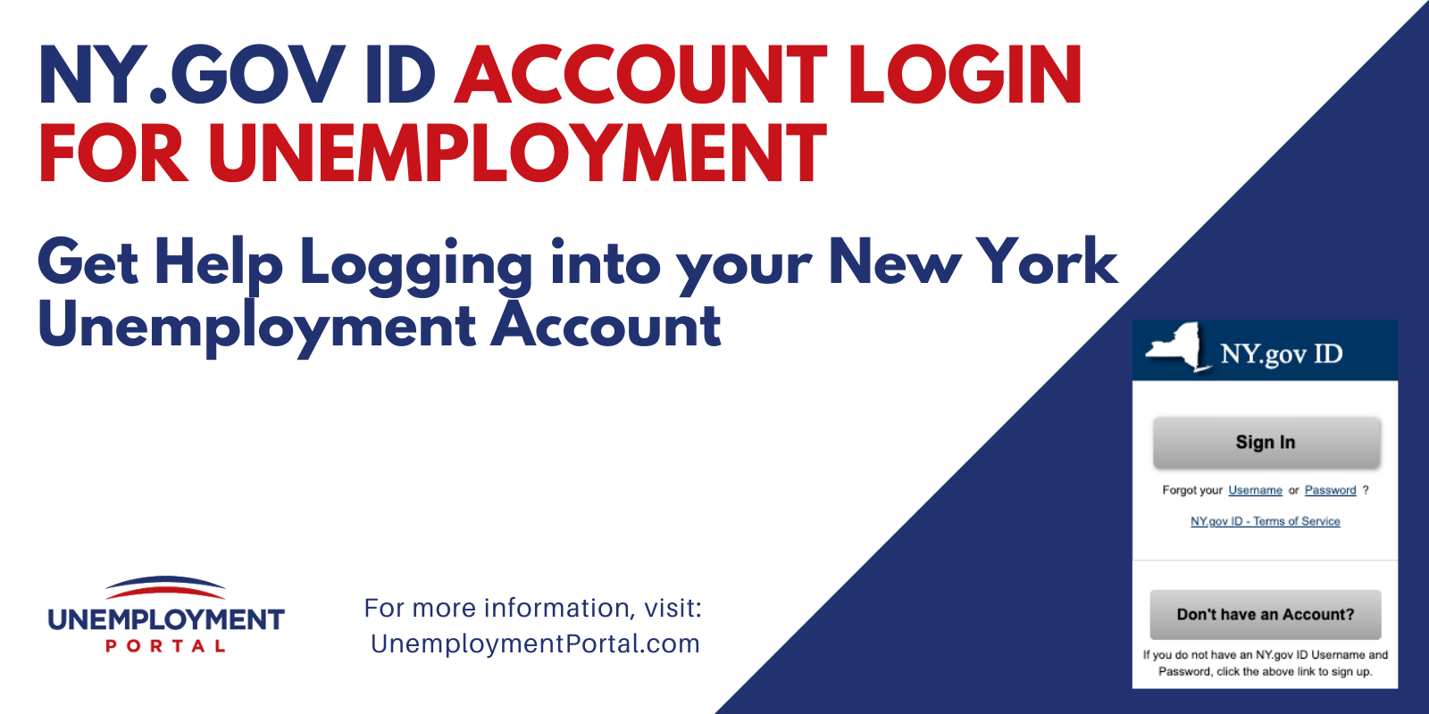 """""""NY.gov ID Account Login for Unemployment"""""""
