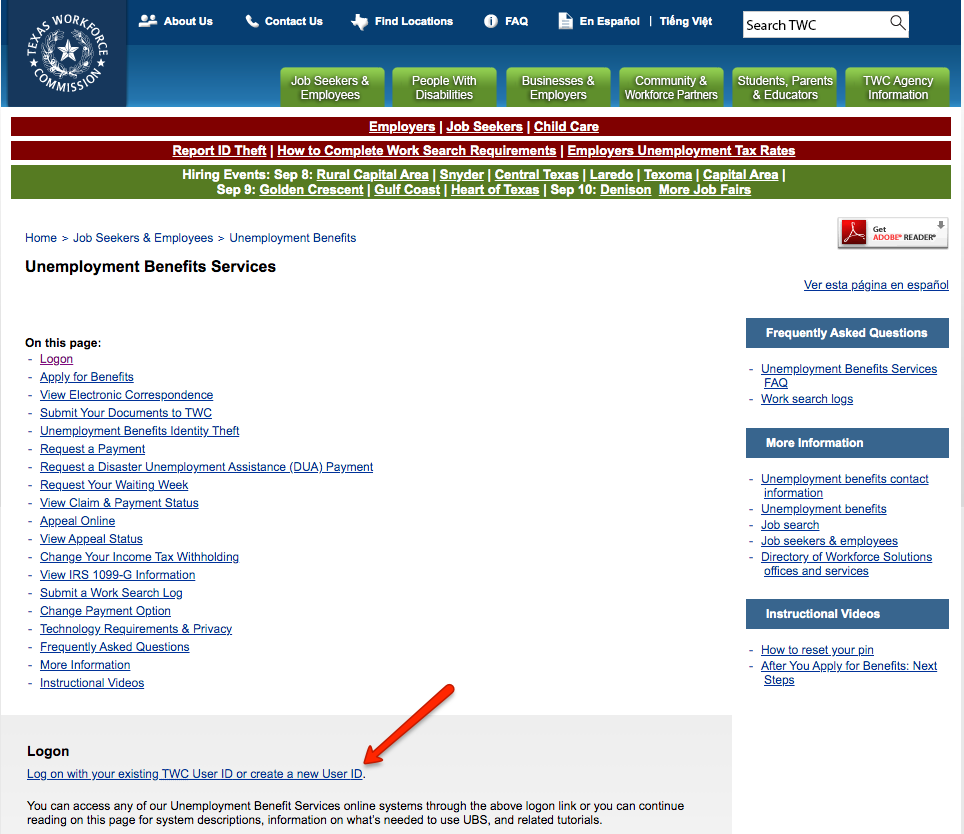 """TWC Unemployment Page"""