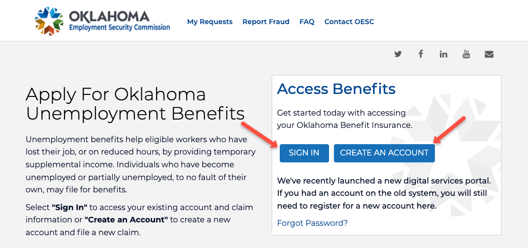 """""""File for Unemployment in Oklahoma Online"""""""